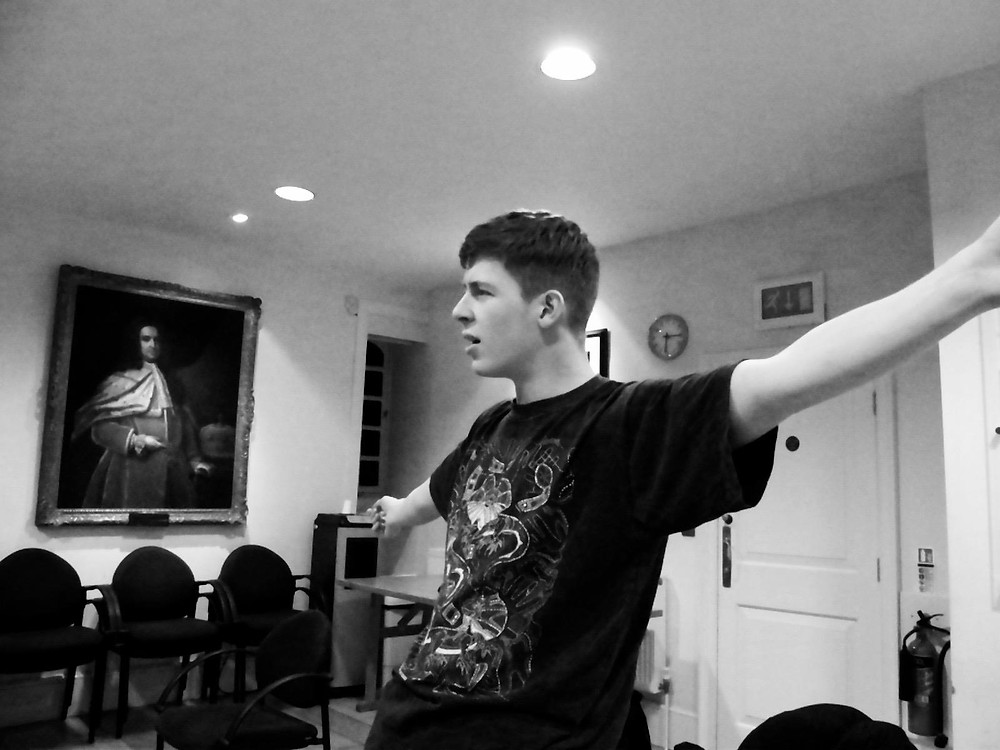 James in rehearsal