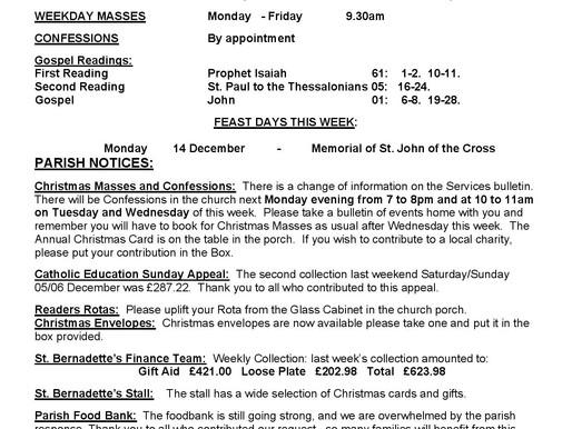 Bulletin - Third Sunday of Advent