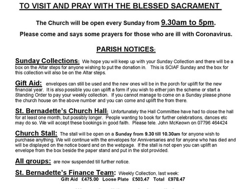 Parish Updates