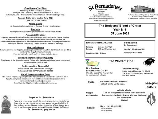 Corpus Christi - Bulletin