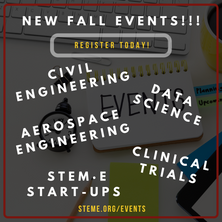 Sign up for our Fall Events NOW!