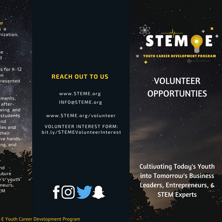 STEME Volunteer Brochure