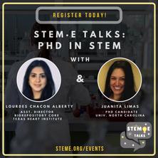 STEM·E Talks: PhD in STEM