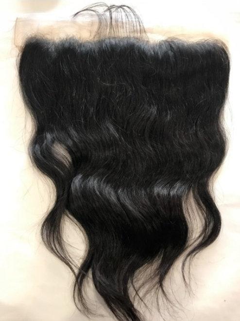 Lace Frontal z włosów naturalnie falowanych 35 cm