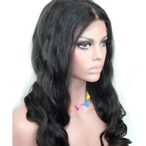 Peruka Full Lace z włosów falowanych (duże fale) 60 cm