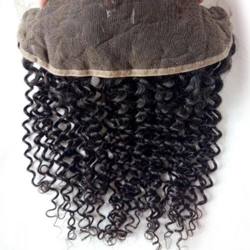 Lace Frontal z włosów kręconych 25 cm