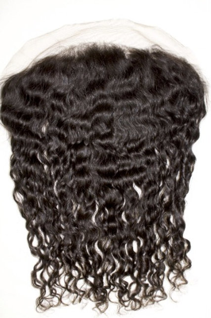 Lace Frontal z włosów kręconych (duże loki) 40 cm