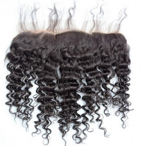 Lace Frontal z włosów bardzo kręconych 30 cm