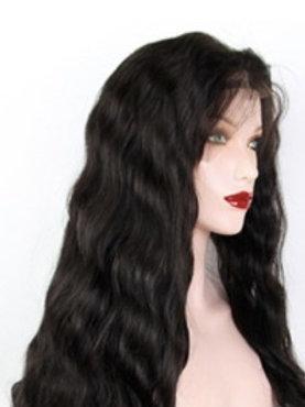 Peruka Full Lace z włosów naturalnie falowanych 40 cm