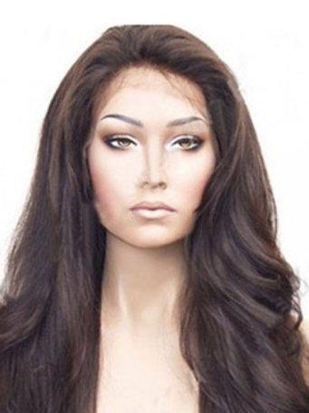 Peruka Full Lace z włosów lekko falowanych 55 cm