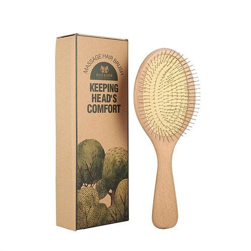 Bambusowa szczotka do masażu skóry głowy z antystatyczną poduszką