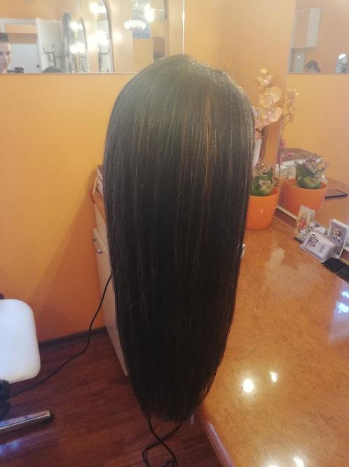 Peruka Full Lace z włosów prostych 55 cm