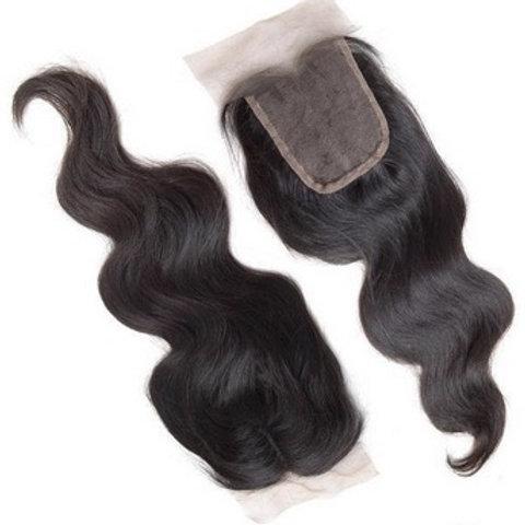 Lace Frontal z włosów delikatnie falowanych 40 cm