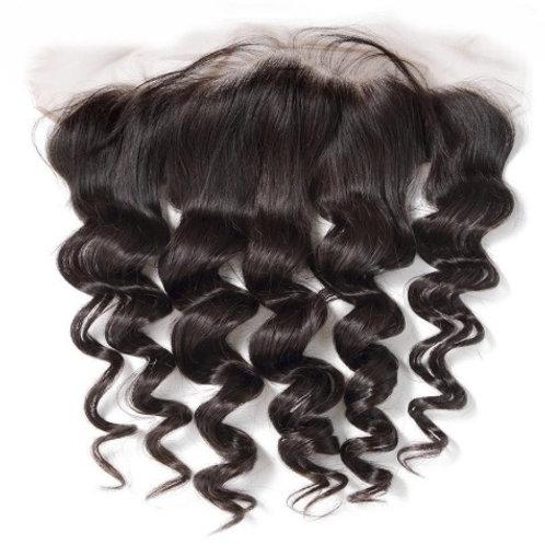 Lace Frontal z włosów falowanych (duże fale) 45 cm