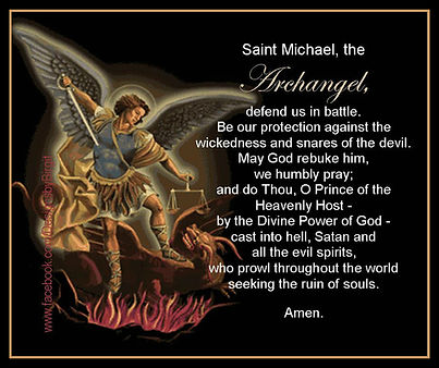 prayer to Saint Michael for ECoPRO paranormal team