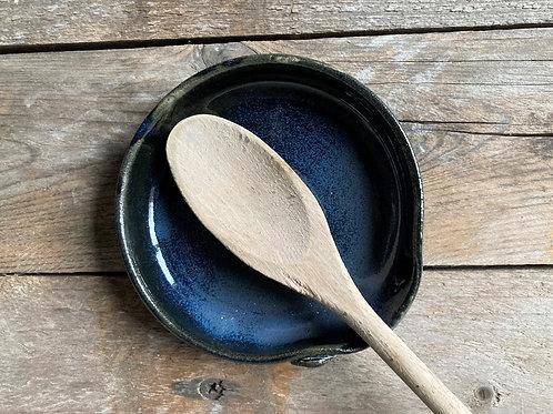 Appoggia cucchiaio in gres - blu