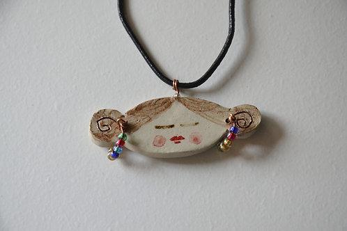 Collana bimba con orecchini di perline
