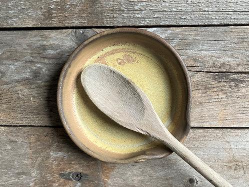 Appoggia cucchiaio in gres - marrone arancio