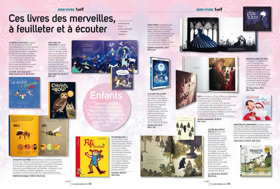 """La Vie """"Les cadeaux de noël en 2015"""""""