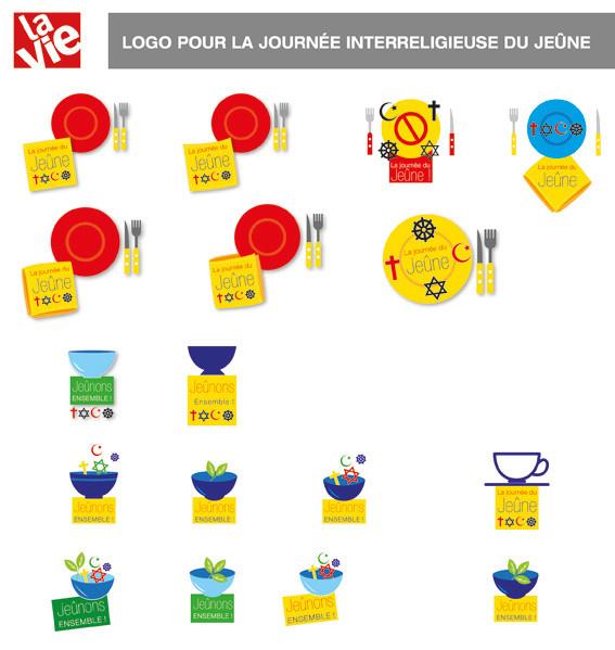 """La Vie. Logo pour """"la journée interreligieuse du jeûne"""""""