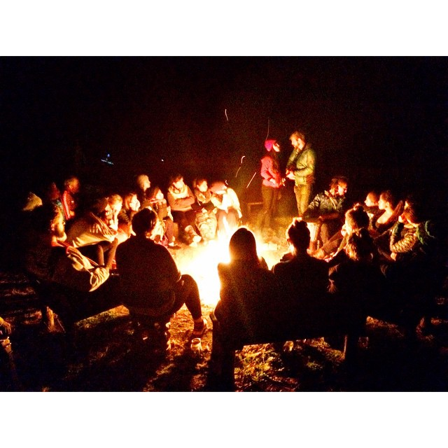 The full moon campfire