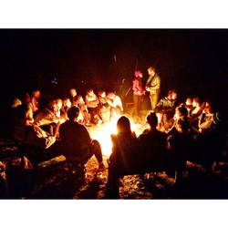 The full moon campfire