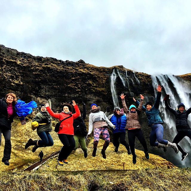 Jumping for waterfalls! #iceland #elementaladventureyogaretreat #thelotusfeeddoesiceland
