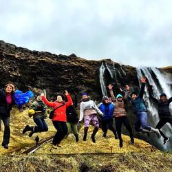 Jumping for waterfalls! #iceland #elementaladventureyogaretreat #thelotusfeeddoesiceland