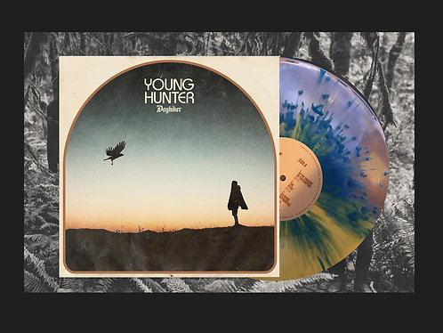 "Young Hunter ""Dayhiker"" 180g Split-Color Clear/Yellow with Blue Splatter"