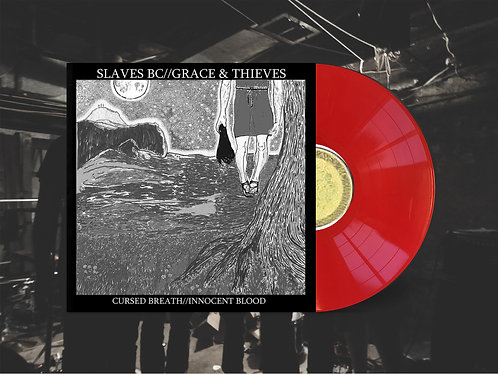 "Slaves BC / Grace & Thieves Split 12"" Red Vinyl"