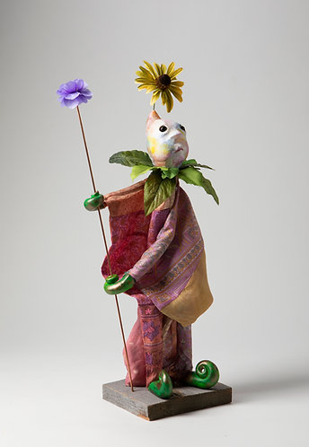 Sneezewart - Midling Rainbow Patchwork Tunic Puppet