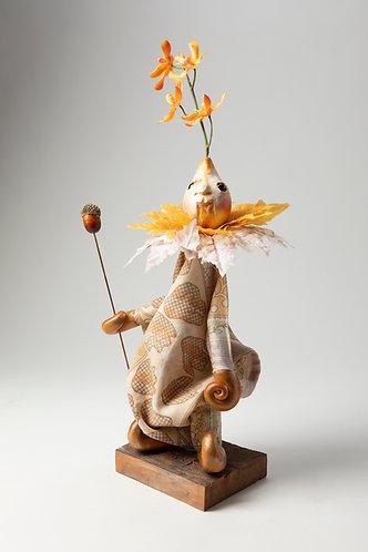 Thistle Bee - Little Autumn Tunic Puppet