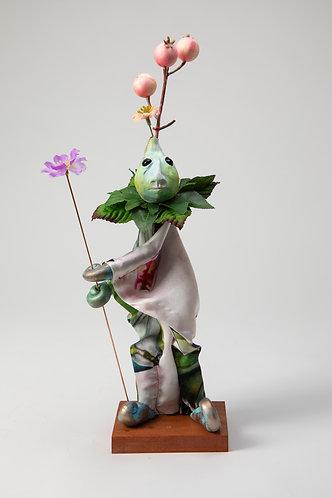 Briar Woodsprig - Little Painted Silk Flower Tunic Puppet
