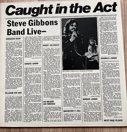 Steve Gibbons Band 'Caught in The Act'