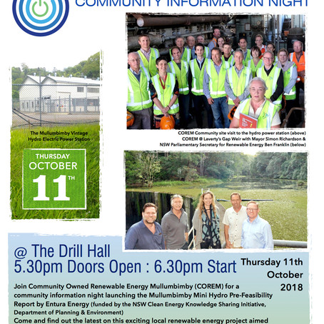 Pre-Feasibility Community Launch  11th October