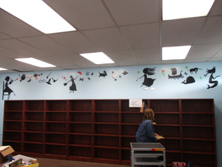 Library Mural                                     (Jefferson Elementary School)