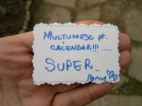 Ringraziamenti per il calendario