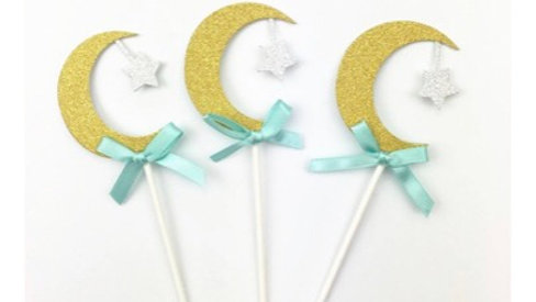 Cupcake Topper azul (x6)