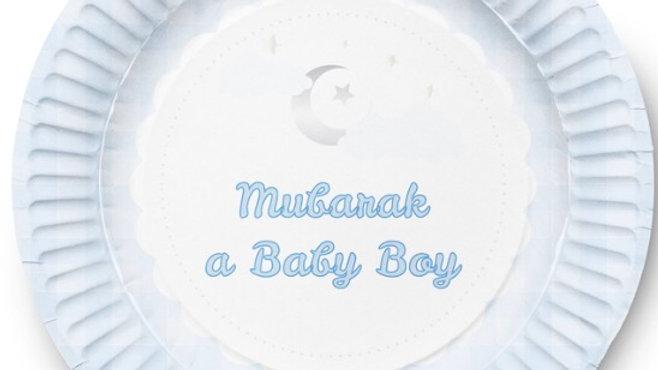 Plato de postre Mubarak baby boy (x10)