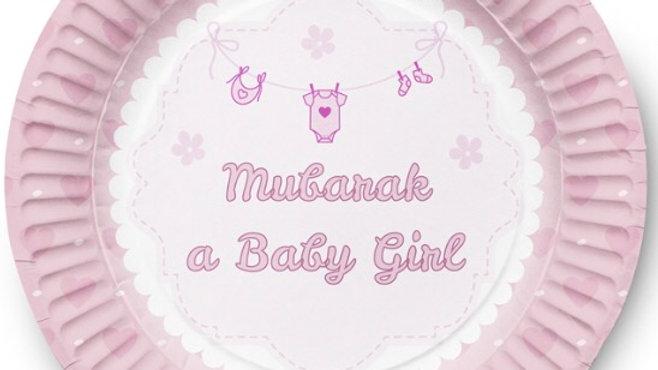 Plato de postre Mubarak baby girl (x10)