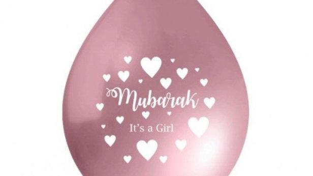 Globos Mubarak it's a Girl (x10)