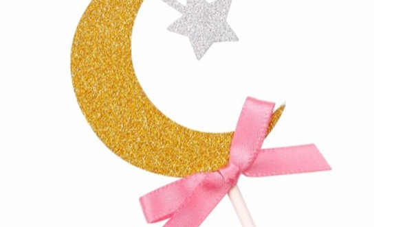 Cupcake Topper rosa (x6)