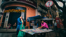 Signature street style pre-wedding photography.