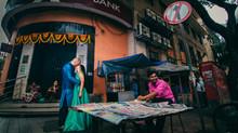 Signature street style pre-wedding photography.