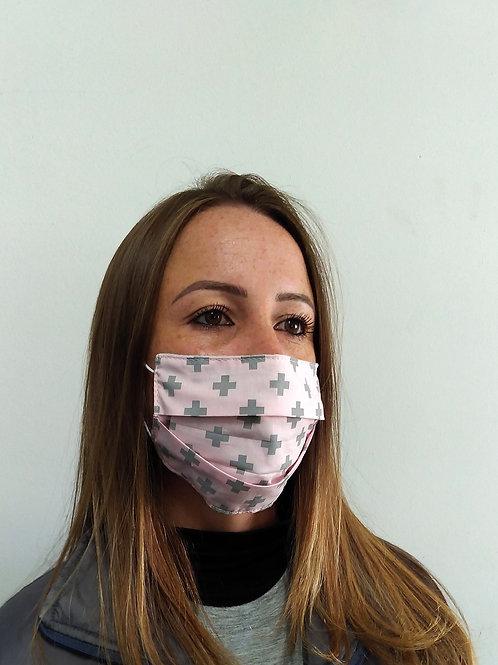 Máscara  de proteção em tecido algodão