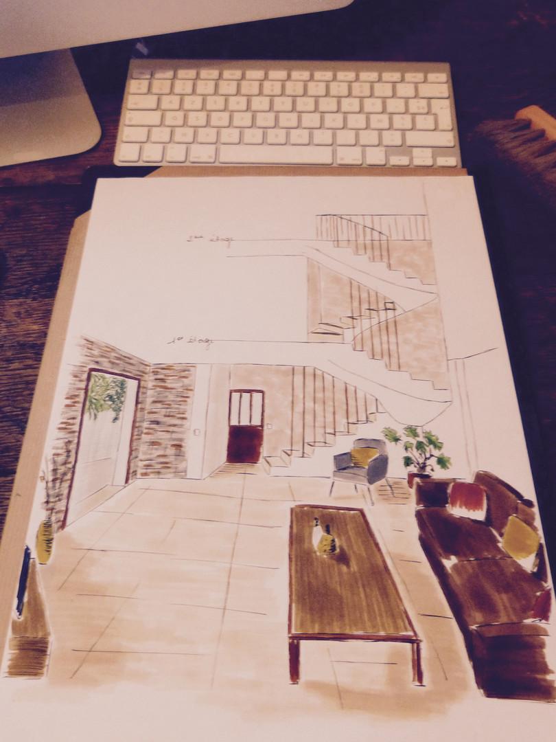 Sketch séjour