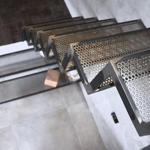 Escaliers perforé