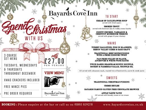 Christmas Parties at Bayards Cove Inn