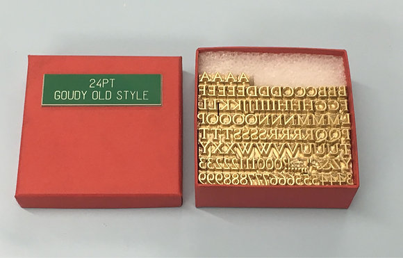 Brass Type for Hot Foil Printing