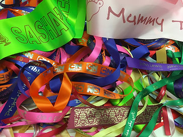 Personalsied Ribbons printed with the ZX-40 Ultra Ribbon Printer